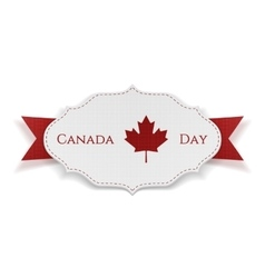 Canada day sign on realistic banner vector