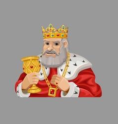 Cartoon king 1 vector