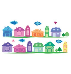 Cartoon village vector