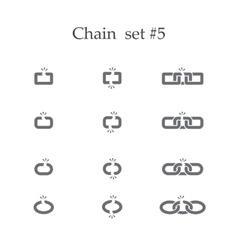 Chain set five vector