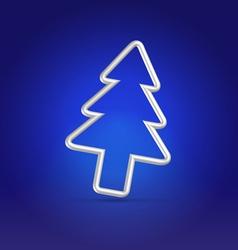 Christmas greetings blue postcard vector image