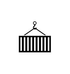crane container flat icon vector image