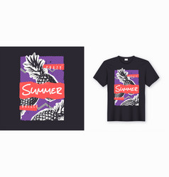 crazy dazzle summer stylish graphic tee design vector image