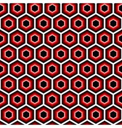 Design seamless hexagon geometric pattern vector