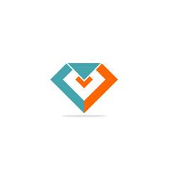 diamond shape colored logo vector image