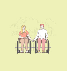 disabled people romantic relationship concept vector image