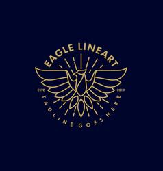 Eagle line art vintage template vector