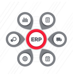 erp software icons vector image