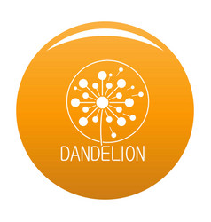 Faded dandelion logo icon orange vector