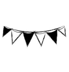 figure flag party celebration decoration design vector image