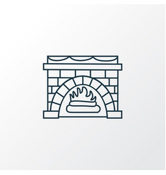 Fireplace icon line symbol premium quality vector