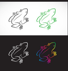 frogs design on white background and black vector image