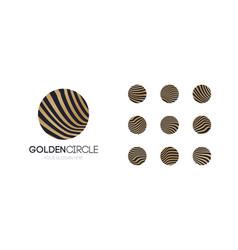 golden circle logo set vector image