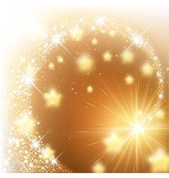 Golden sparkling background vector