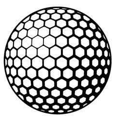 Golf ball symbol vector