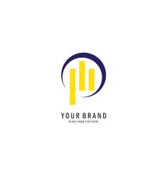 graphic chart symbol logo vector image