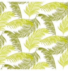 Green palm leaves seamless pattern vector