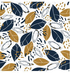 hand drawn botanical seamless pattern vector image