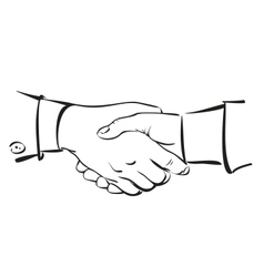 Handshake Hand drawn sketch vector