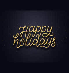 Happy holidays typography text card vector