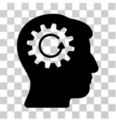 head gear rotation icon vector image