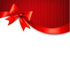 Holiday background with red gift glossy bow vector