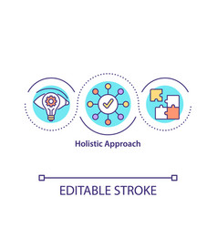 Holistic approach concept icon vector