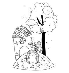 Isolated hedgehog cartoon design vector