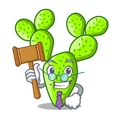 Judge cartoon the prickly pear opuntia cactus vector