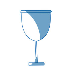 Kawaii glass cup beverage wine glassware vector