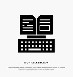 Key keyboard book facebook solid black glyph icon vector