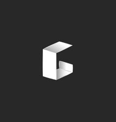 letter g logo isometric shape typography design vector image