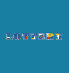 Lottery concept word art vector