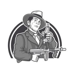 Mobster Beer vector
