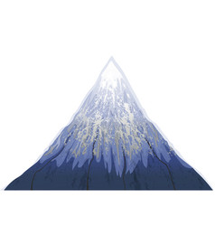 Mountain fuji beautiful blue snow white background vector