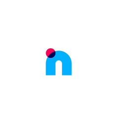N letter initial logo icon vector
