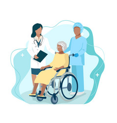nurse caring for elderly vector image