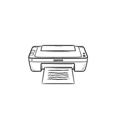 office printer hand drawn outline doodle icon vector image
