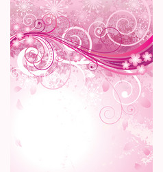 pink of spring vector image
