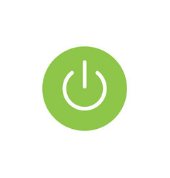 power on off graphic icon design template vector image