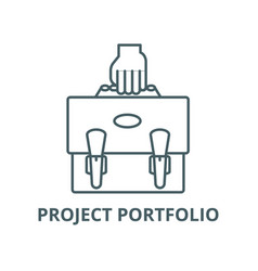 project portfolio line icon linear concept vector image