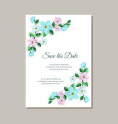 Romantic wedding invitation vector