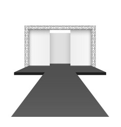Runway podium stage empty catwalk with black vector