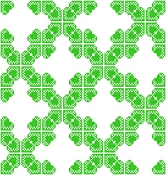 Seamless texture with green abstract leaves vector image