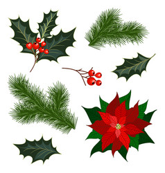 Set christmas decorations vector