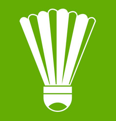 shuttlecock icon green vector image