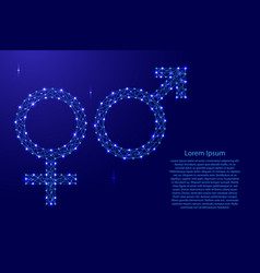 signs male and female mars and venus from vector image
