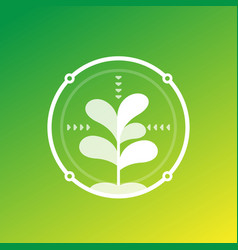 Smart farming and agriculture technology icon vector