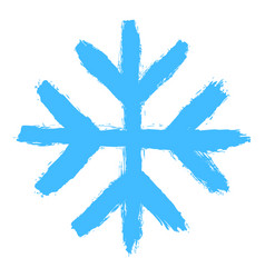 Snowflake 05 from set 05 drawing a snow flake vector