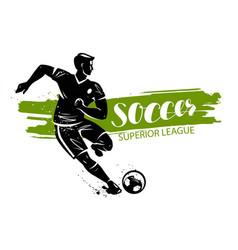 soccer banner sport concept vector image